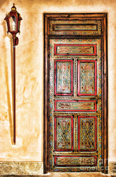 Photograph - Moroccan Door By Diana Sainz by Diana Raquel Sainz