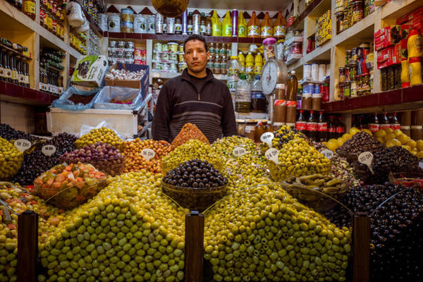Moroccan Grocery Art Print by Pierre-Yves Babelon