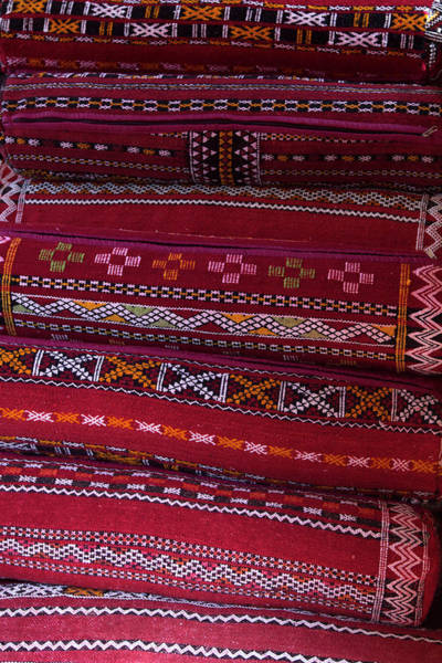 Berber Wall Art - Photograph - Morocco, Asni Berber Pillows At Richard by Kymri Wilt