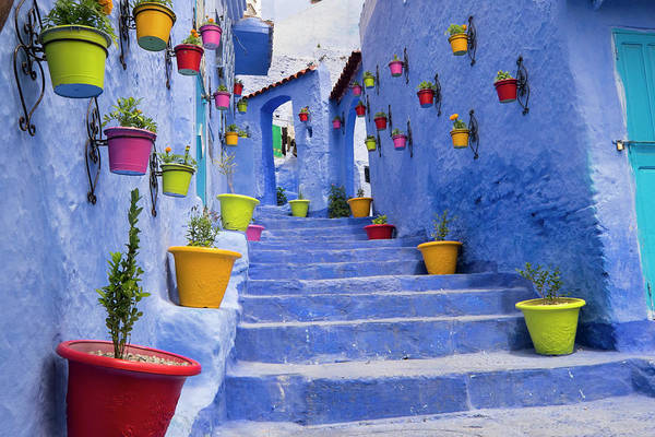 Wall Art - Photograph - Morocco, Chefchaouen Or Chaouen Is Most by Emily Wilson