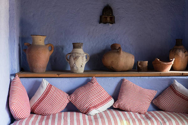 Chefchaouen Wall Art - Photograph - Morocco, Interior Of Sitting Room by Brenda Tharp