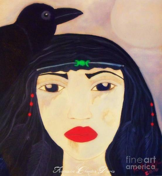 Wiccan Painting - Morrigan Celtic Goddess by Sacred  Muse