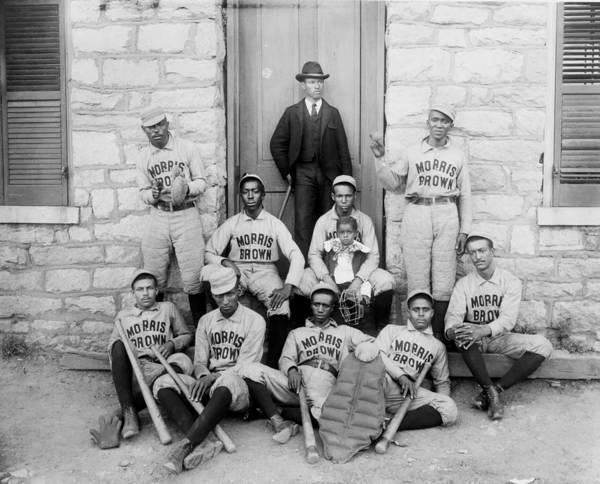 College Baseball Photograph - Morris Brown College Baseball Team 1899 by Mountain Dreams
