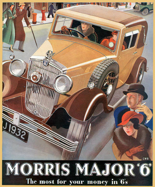 Photograph - Morris Major by Vintage Automobile Ads and Posters