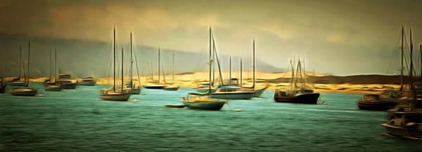 Morro Bay Painting - Morro Bay Harbor 2 by Barbara Snyder