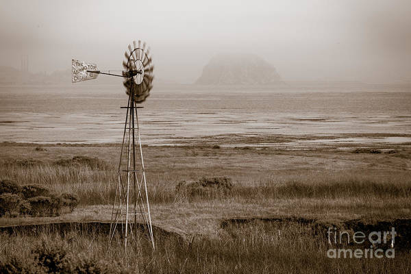 Morro Bay Windmill Art Print