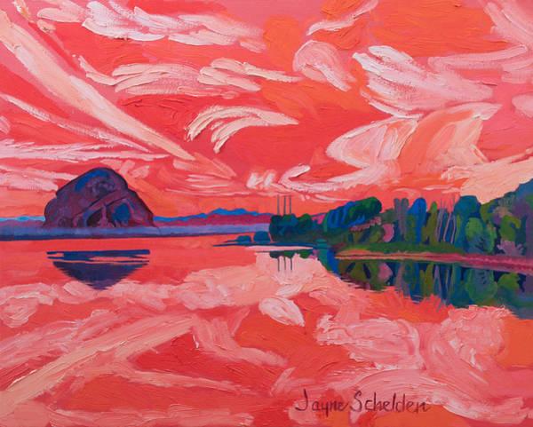 Morro Bay Painting - Morro Rhapsody by Jayne Schelden