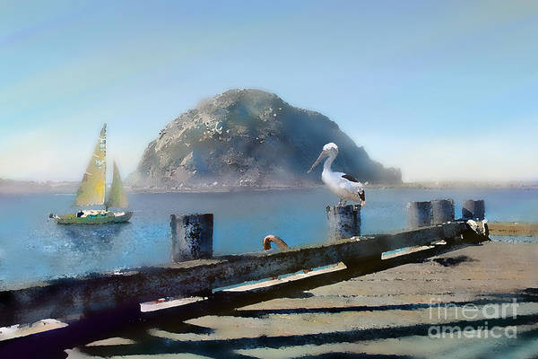 Quick Digital Art - Morro Rock by Bill Quick