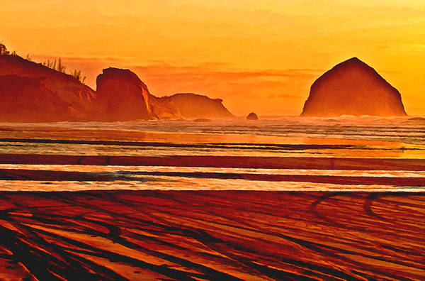 Painting - Morro Rock Painting by Bob and Nadine Johnston