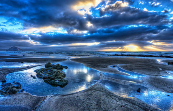 Photograph - Morro Strand Reflections by Beth Sargent