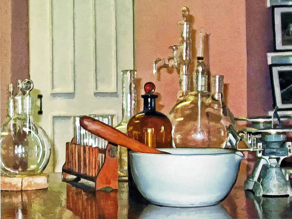 Photograph - Mortar And Pestle In Perfume Shop by Susan Savad