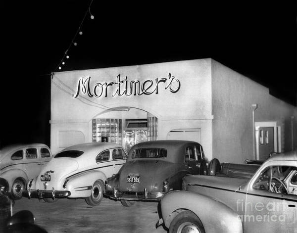 Photograph - Mortimers Dining  Dancing Marina California  Circa 1948 by California Views Archives Mr Pat Hathaway Archives