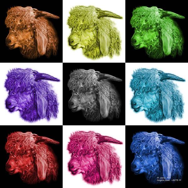 Digital Art - Mosaic Angora Goat - 0073 F - M - V1 by James Ahn