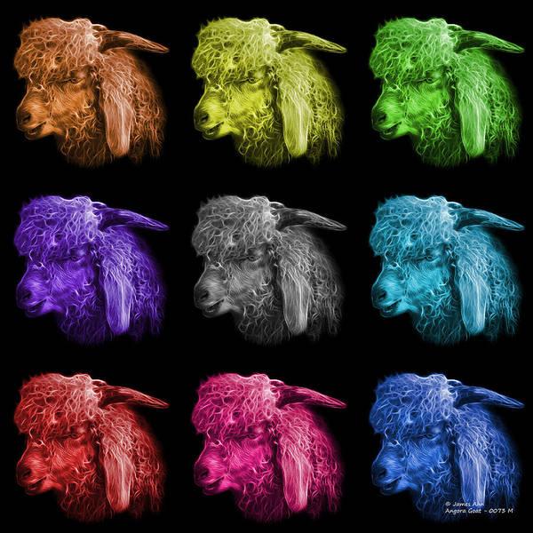 Digital Art - Mosaic Angora Goat Pop Art - 0073 F - M - Bb by James Ahn