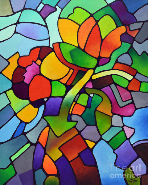 Painting - Mosaic Bouquet by Sally Trace