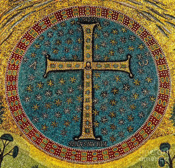 Mosaic Cross Ravenna I Art Print
