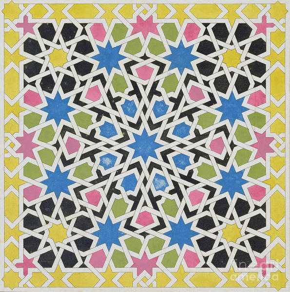 Mosaic Design From The Alhambra Art Print