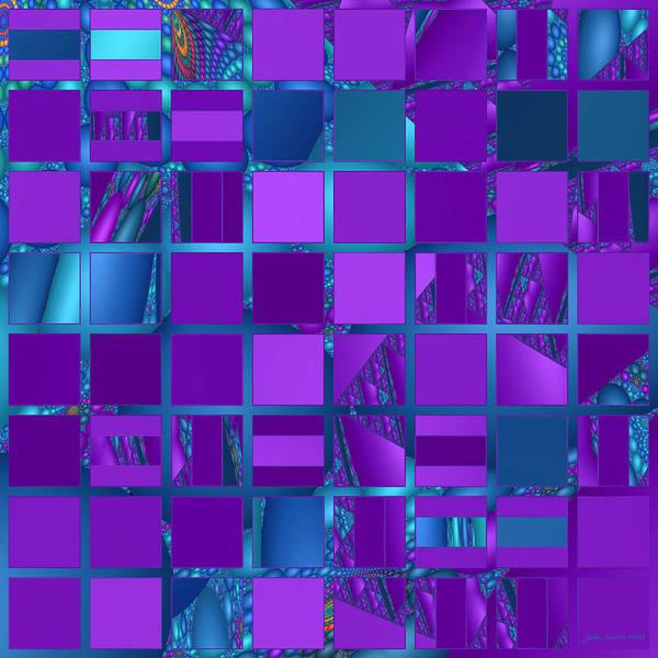Digital Art - Mosaic In Purple And Teal by Judi Suni Hall