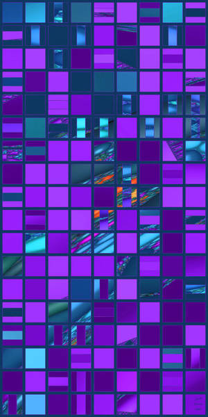Digital Art - Mosaic In Teal And Purple by Judi Suni Hall