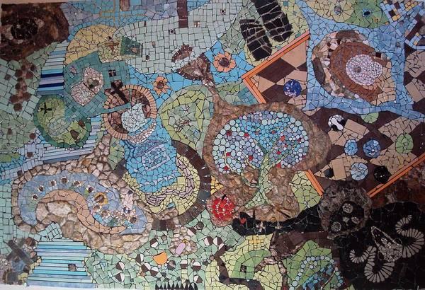 Serenity Prayer Mixed Media - mosaic something between God and hell by Cigler Struc