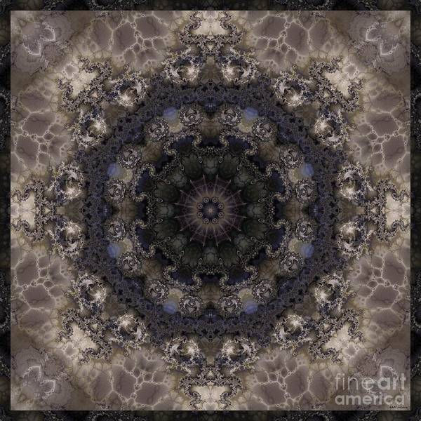 Liz Digital Art - Mosaic Tile / Gray Tones by Elizabeth McTaggart