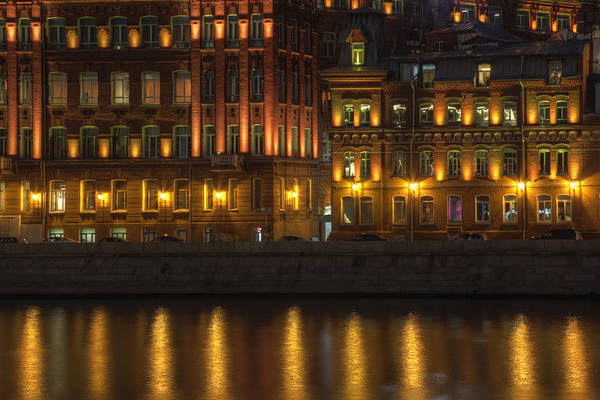 Wall Art - Photograph - Moscow At Night by Magomed Magomedagaev