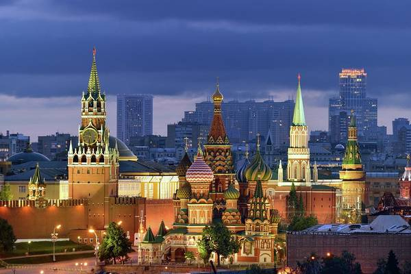 Church Photograph - Moscow Kremlin And St Basil Cathedral by Vladimir Zakharov