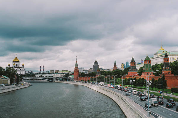 Cathedral Of Christ The Savior Photograph - Moscow River by Woodstock Photography