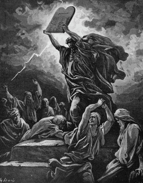 Lightening Painting - Moses Breaking The Tablets Of The Law by Vintage Images