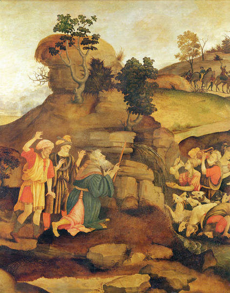 Thirst Photograph - Moses Brings Forth Water Out Of The Rock, C.1500 Detail by Filippo Lippi