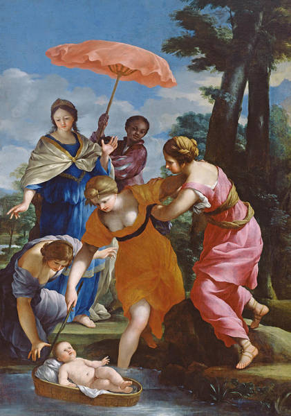 Saving Painting - Moses Rescued From The Water by Giovanni Francesco Romanelli