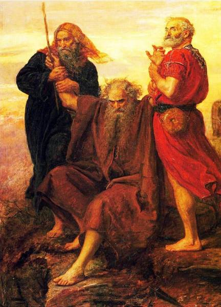 Everett Painting - Moses Supported By Aaron And Hur  Is Praying For Victory by Celestial Images