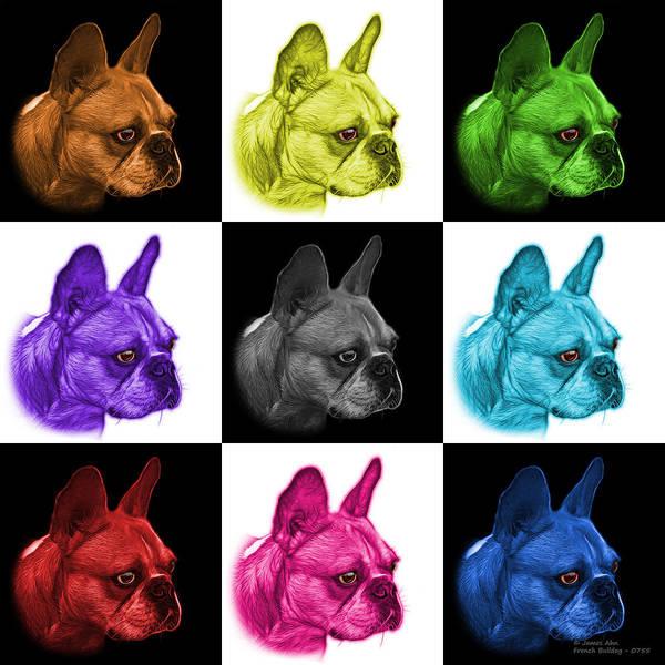 Painting - Mosiac French Bulldog Pop Art - 0755 V1 - M by James Ahn