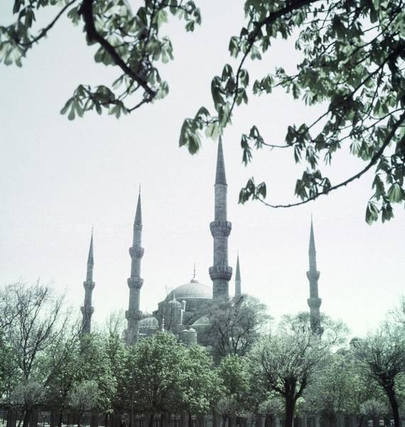 Landmark Photograph - Mosque Behind Trees In Turkey by Horst P. Horst