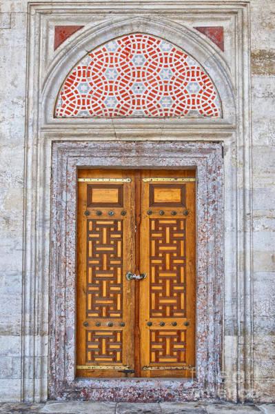 Religious Photograph - Mosque Doors 04 by Antony McAulay