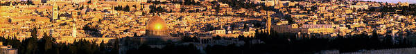 Old Jerusalem Photograph - Mosque In A City, Dome Of The Rock by Panoramic Images