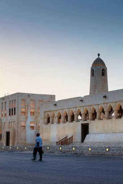 Real People Photograph - Mosque In Doha by Jane Sweeney