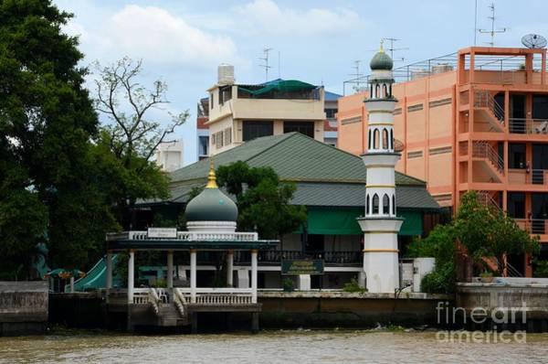 Photograph - Mosque On Chao Phraya River Bank Bangkok Thailand by Imran Ahmed