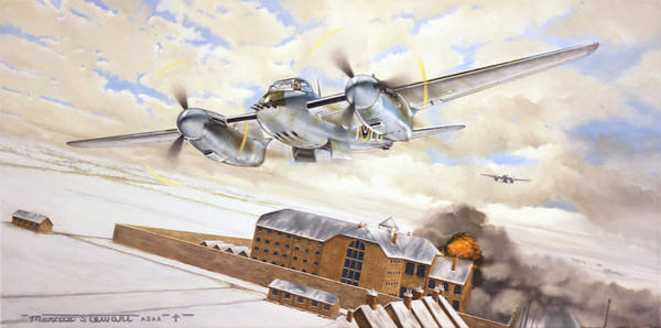 Wall Art - Painting - Mosquitoes Over Jericho by Marc Stewart