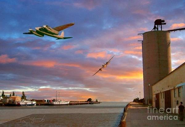 Flyby Photograph - Mosquitoes Over Port Stanley by Tom Straub