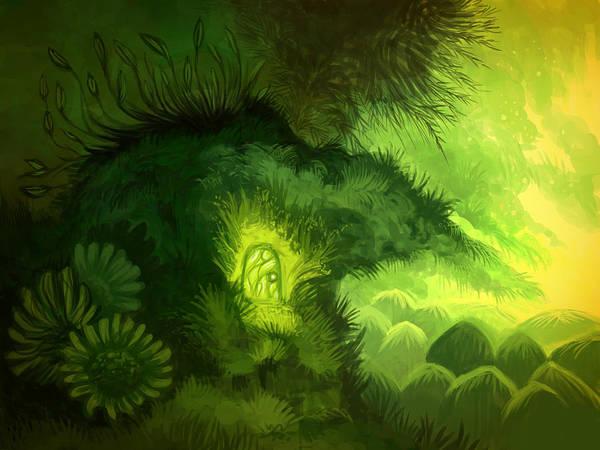 Illustration Digital Art - Moss Illustration by Illustrations By Annemarie Rysz