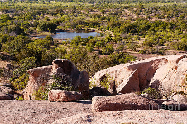Enchanted Rock State Park Photograph - Moss Lake Overlook From Little Rock - Enchanted Rock Texas Hill Country by Silvio Ligutti