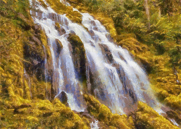 Photograph - Mossy Cascade by Charmaine Zoe