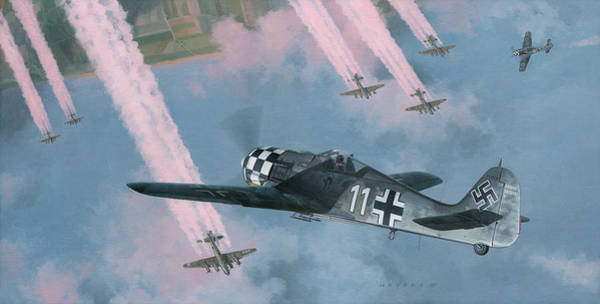 Luftwaffe Wall Art - Painting - Most Dangerous Game by Wade Meyers