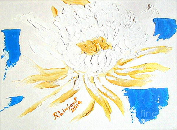 Priceless Painting - Most Expensive Flower In The World Priceless Kadapul 1000000000 by Ricardo Richard W Linford