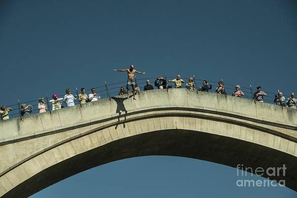 Stari Photograph - Mostar Jumper  by Rob Hawkins