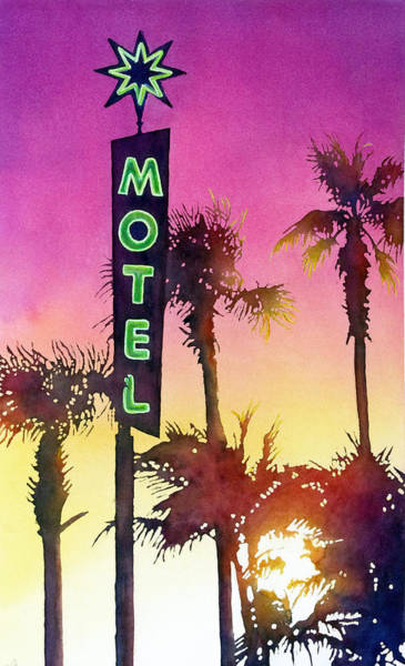 Painting - Motel California by Greg and Linda Halom