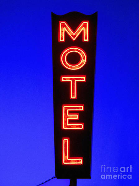 Vintage Neon Sign Photograph - Motel by Diane Diederich