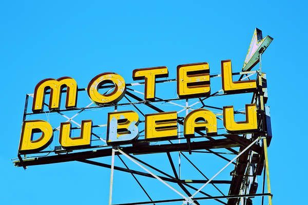 Motel Du Beau Art Print