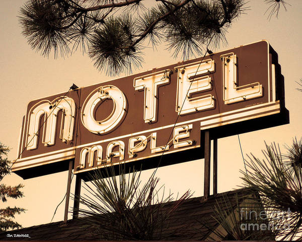 Lake Digital Art - Motel Maple by Jim Zahniser